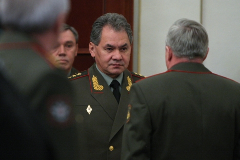 "Russian Minister of Defence: ""We expect to address the need to strengthen the defence capability of our Belarusian colleagues and brothers."" Source: RIA Novosti / Sergey Mamontov"