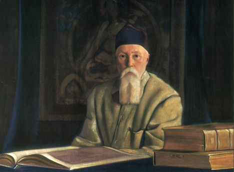 A painting of Nicholas Roerich by his son Svetoslav