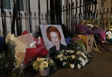 The world is paying homage to Margaret Thatcher. Source: AP