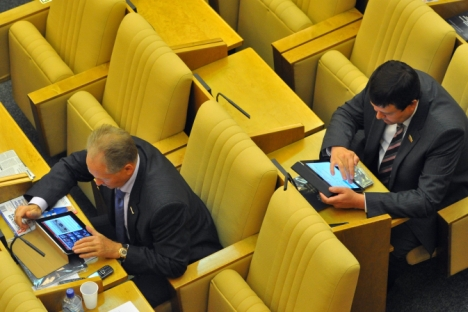 Having their own blogs on social networks has become the fashion for Russian politicians. Source: Kommersant