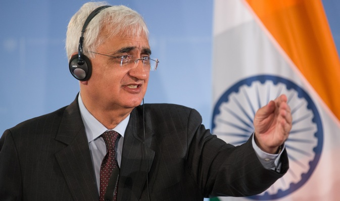"Salman Khurshid: ""We have the issues in trade, investment, participation in common defence programmes, in the fields of nuclear energy and hydrocarbons and in the field of culture."" Source: AP"