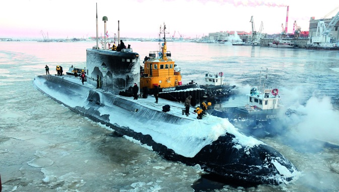 INS Sindhurakshak: unforgettable winter in Severodvinsk. Source: Alexander Yemelianinkov