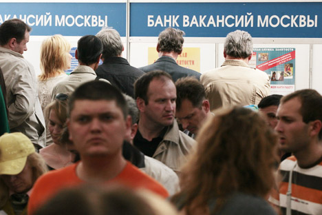The maximum unemployment benefit makes up 4,900 roubles (around 160 dollars) which compares to the wage level in many sectors. Source: ITAR-TASS