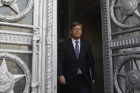 Russia lodged an official protest with US Ambassador Michael McFaul (photo) on May 15, after FSB reported that a US diplomat suspected of trying to recruit a Russian security services agent. Source: Reuters