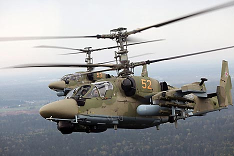 Ka-52 Alligator attack helicopter. Source: Snake Eyes