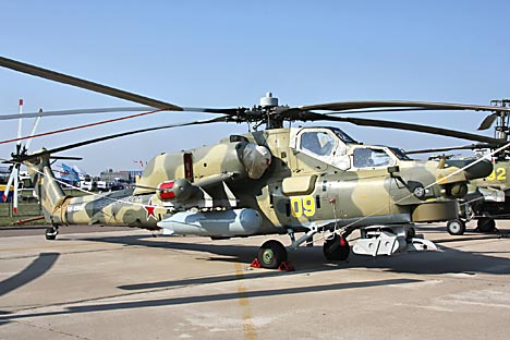 Mi-28NE Night Hunter was presented at the IDEF 2013 exhibition. Source: Vitaly Kuzmin