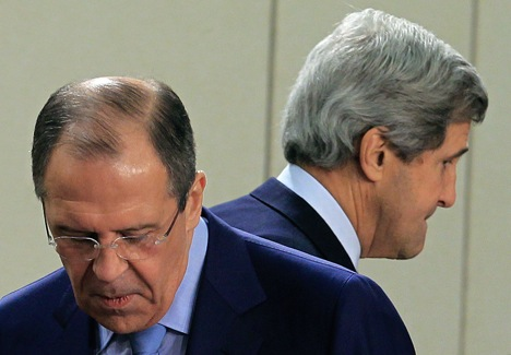 The results of Kerry (R) visit will be decisive for Syrian crisis, and also for Russia-US relations. Source: Reuters