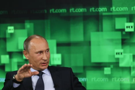 """Europe's problem is not the welfare state as such, but """"inefficiency,"""" Putin said. Source: AP"""