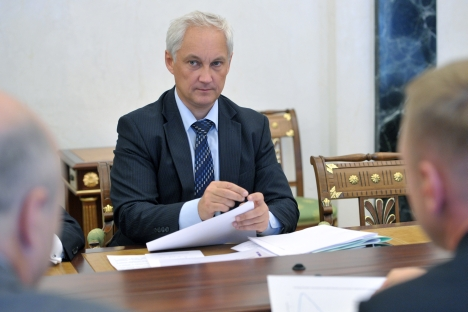 Minister of Economic Development of Russia Andrei Belousov at a meeting on economic issues held in the Kremlin, June 10, 2013. Source: RIA Novosti / Alexey Nikolsky
