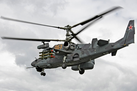 First contract for deliveries of the Ka-52 helicopters (photo) had been signed. Source: Alexandr Medvedev