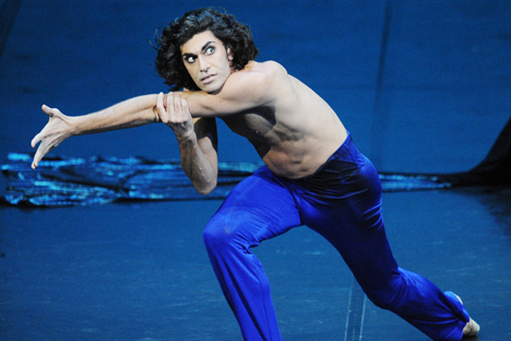 Nikolay Ziskaridse on the stage of the Bolshoi theatre. Source: ITAR-TASS