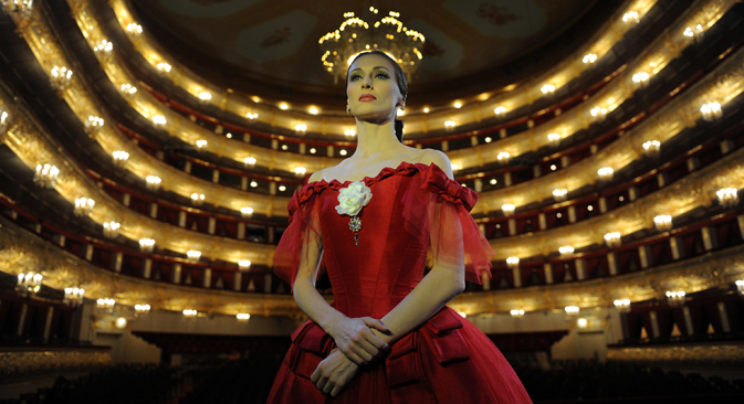 Bolshoi Ballet principal dancer Svetlana Zakharova seen during her gala performance at the Bolshoi Theatre. Source: PhotoShot / Vostok Photo