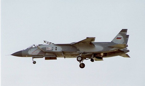 F-35B and the Yak-141 look very similar in terms of appearance – like twins separated at birth. Photo: Yak-141. Source: Ken Videan/wikipedia.org