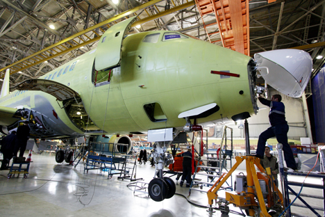 The iPad visualisation method is just part of the lean production concept that is being introduced at the Sukhoi factory. Source: ITAR-TASS