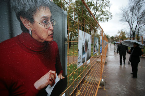 Anna Politkovskaya was killed in 2006. Source: Sergei Savostyanov / Rossiyskaya Gazeta