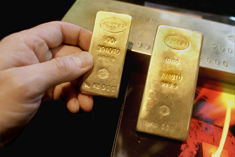 Russia has the world's seventh largest gold and silver holdings, excluding the IMF. Source: ITAR-TASS