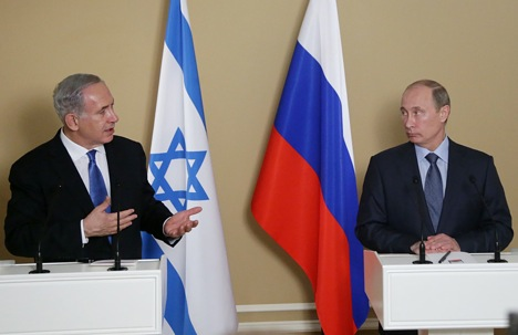Despite differences the interactions between Russia and Israel have continued in a fruitful direction. Photo: Putin and Benjamin Netanyahu at the joint press conference at Putin's residence in the Black Sea resort of Sochi, on May 14, 2013. Source: AFP / East News