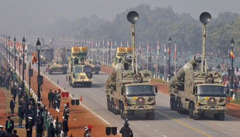 India is planning to spend $100 billion in the next five years or so to add muscle to its armed forces. Source: Reuters