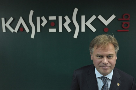 In Russia Kaspersky secures 52.7 percent market share followed by ESET with about 27 percent of the market. Source: Sergey Guneev/RIA Novosti