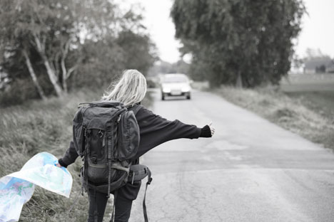Hitchhiking, though risky, can be a very gratifying experience. Source: Alamy / Legion Media