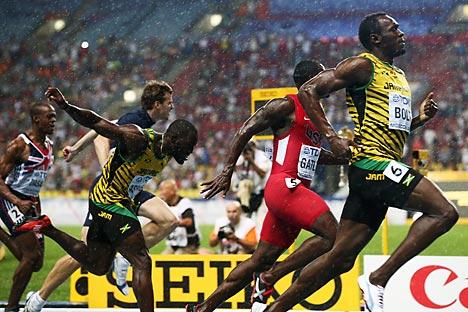 The Jamaican sprinter Usain Bolt eft Moscow an eight-time world champion. Source: Mikhail Sinitsyn / RG