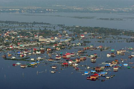400,000 square miles of Russian Far East flooded. Source: RIA Novosti / Sergei Mamontov