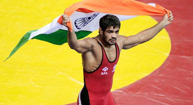 Sushil Kumar's comments about the 2010 world championships in Moscow are bound to raise a storm. Source: Reuters/Vostock Photo