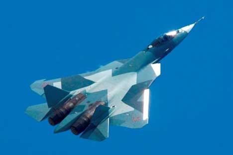India and Russia are now jointly developing a fifth-generation fighter aircraft (FGFA). It is a derivative project from the PAK FA plane (pictured). Source: OAO Sukhoi