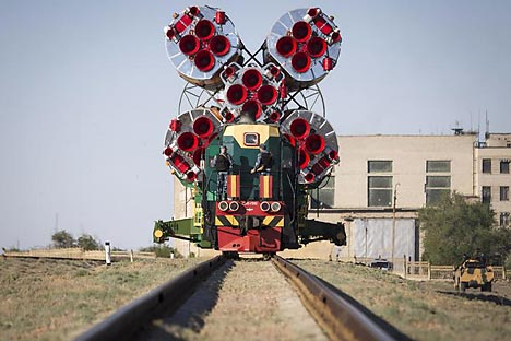 A Soyuz TMA-09 spacecraft being transported to its launch pad at Baikonur. Source: Reuters