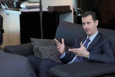 "Bashar Assad: ""Nowadays there are many politicians, although very few leaders, among the heads of states."" Source: Reuters/Vostock Photo"