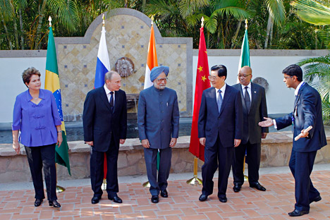 The five central banks of the BRICS states are working on a mechanism for contributing to the fund and for coordinating with IMF policies. Source: AP