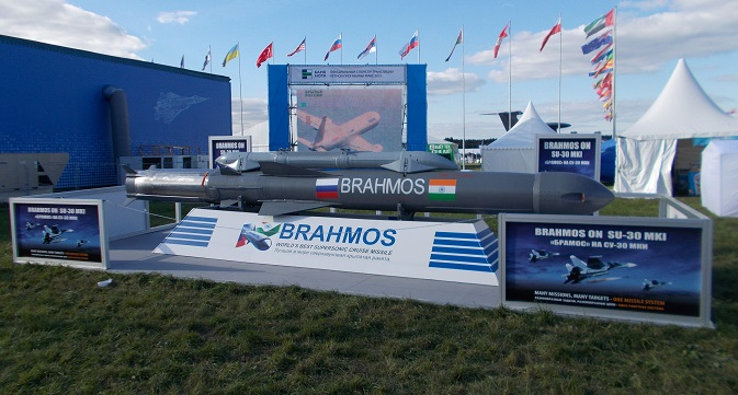 BrahMos missile at the MAKS-2013 international air and space show. Source: Boris Egorov / RIR