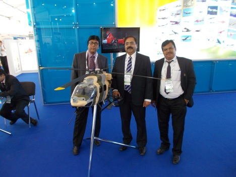 R.P. Chakraborty (right) spoke to RIR at the MAKS-2013 airshow. Source: Boris Egorov / RIR