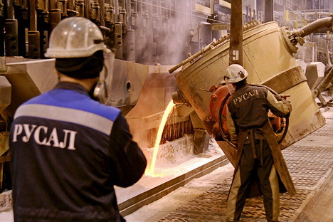 Rusal, Russia's leading aluminum company has faced a difficult metals market, and the tight squeeze resulted in a 54.3 percent drop in the value of the company in the first half of 2013. Source: ITAR-TASS