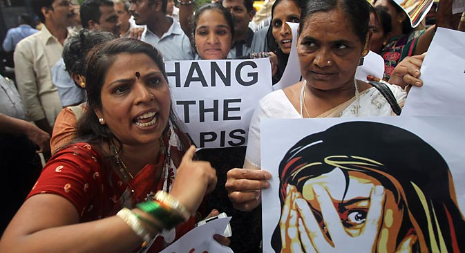 India is once again witnessing protests over lack of women's safety. Source: AP