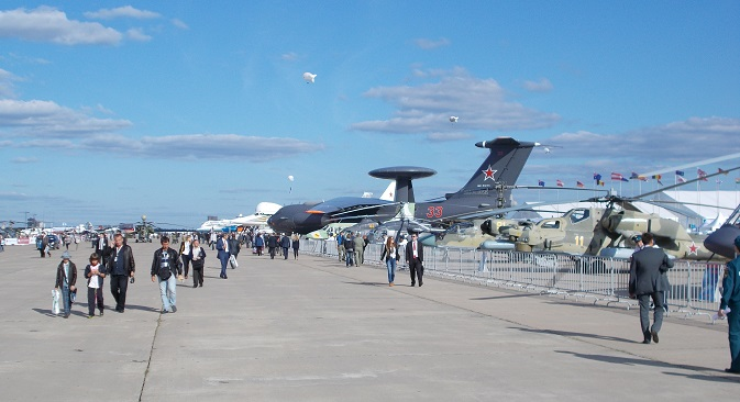 The MAKS-2013 international aviation and space show was held in the town of Zhukovsky near Moscow from August 27 to September 1. Source: Boris Egorov / RIR