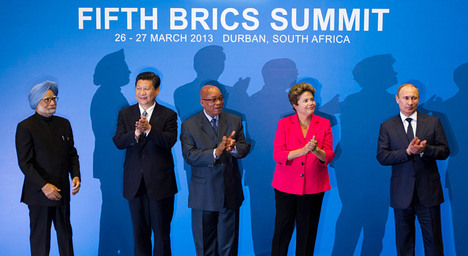 The BRICS partners are concerned about the US Federal Reserve's plans to start tapering its liquidity injection programme. Source: Reuters