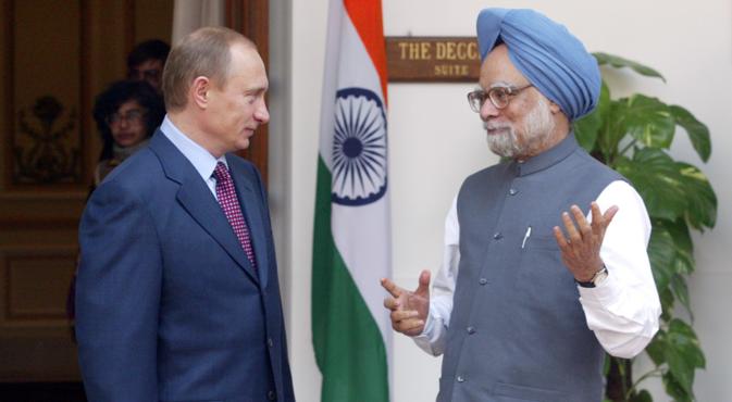 Manmohan Singh is expected to meet Vladimir Putin on the sidelines of G20. Sourсe: Konstantin Zavarzhin / RG