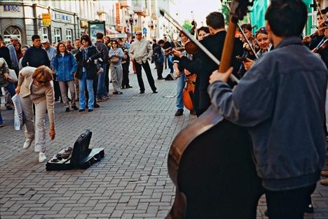 Street musicians on Arbat. Source: Vladimir Vyatkin / RIA Novosti