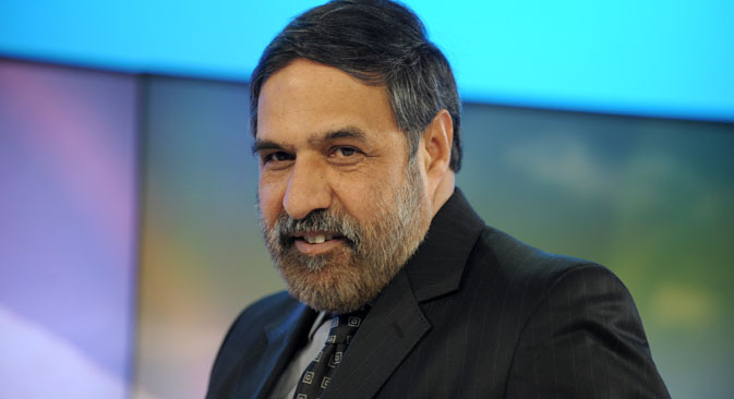 India's Commerce and Industry Minister Anand Sharma led the multi-sectoral delegation from India at the 7th meeting of India-Russia Trade and Investment Forum. Source: AFP/East News