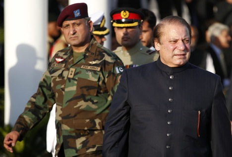 Nawaz Sharif's manifest desire to move forward in relations with India, which in turn has encouraged Manmohan Singh to place trust in him. Source: Reuters