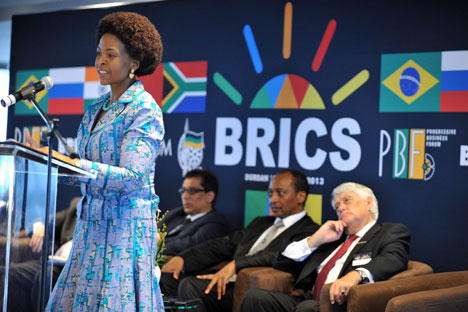 Meeting prior to the BRICS summit in Durban, on March 25, 2013. Source: Itar-Tass
