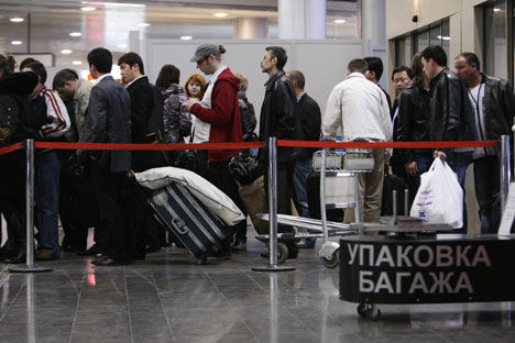 Russian airports can provide many entertaining situations. Source: RIA Novosti / Georgiy Kurolesin