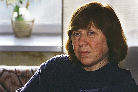 """Svetlana Alexievich: """"During Perestroika, we thought we'll just keep talking about it and will have freedom. But it turned out that freedom is a hell of a lot of effort."""" Source: RIA Novosti"""