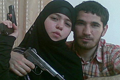 17-year-old Janet Abdurakhmanova was one of the two suicide bombers who carried out the 2010 Moscow Metro bombings. She was the widow of Umalat Magomedov, the leader of the militant Shariat Jamaat organisation in the southern Russian republic of Dagestan. Source: RIA Novosti