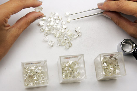 Alrosa finished 2012 as the world's largest diamond producer, accounting for 26 percent of the world's production. Source: Press Photo