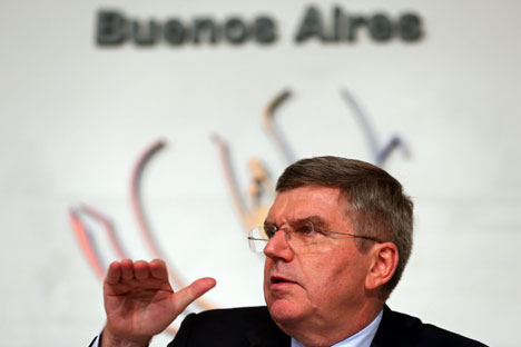 "Thomas Bach : ""We can make these Games an outstanding success and this is what we are all working for in the 100 days to come."" Source: Getty Images/Fotobank"