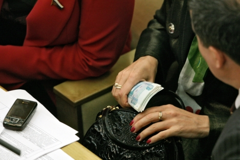 Despite the dismissal of hundreds of corrupt officials, the amount of detected official corruption is going down, from 34,000 cases in the first six months of 2012 to 29,500 in the same period this year. Source: Kommersant