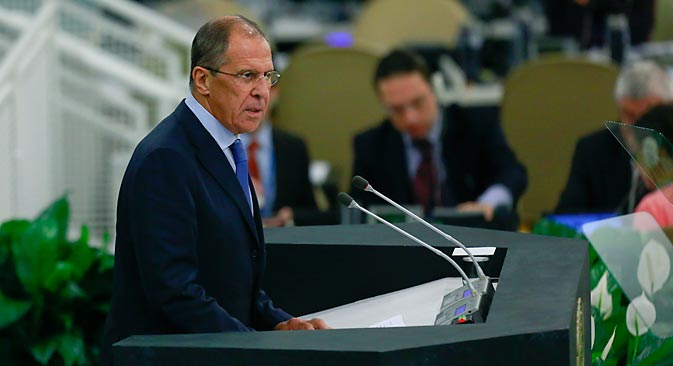 """Sergei Lavrov: """"Russia's policy in the Asia-Pacific is deliberate and focused, aimed at truly stable balance of power and elaboration of cohesive regional agenda"""". Source: Reuters"""
