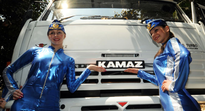In February 2010, Kamaz opened an assembly line in India at the Kamaz Vectra Motors Limited (KVML), a joint venture with the Vectra group. Source: Itar-Tass